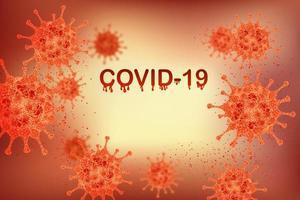 gloeiende oranje covid-19 infectie medische deisgn