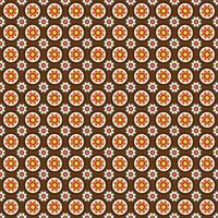 mod stijl cirkelvormig bloemenpatroon vector