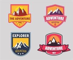 avontuur badge set vector
