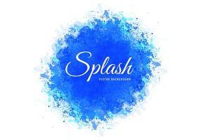 hand getekende blauwe zachte aquarel splash