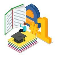 student studeert voor krijgt de eerste rang op school