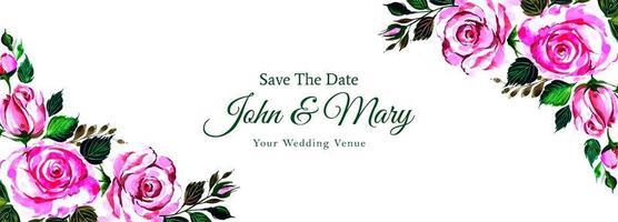 mooie decoratieve hoeken bloemen bruiloft banner