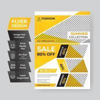 moderne eenvoudige mode verkoop eenvoudige flyer-sjabloon