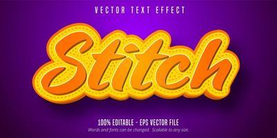 steek tekst effect