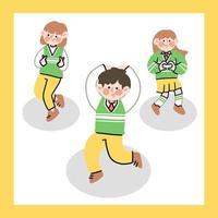 middelbare scholieren dansen