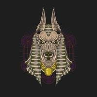 anubis god van Egypte vector
