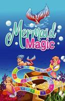 spel sjabloonontwerp met zeemeerminnen en onderwaterscène