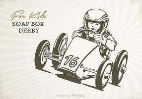 Gratis Retro Zeep Box Vector Poster