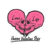 schedel liefde symbool Valentijnsdag ontwerp