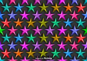 Vector Achtergrond Met Kleurrijke 3D Sterren Naadloos Patroon