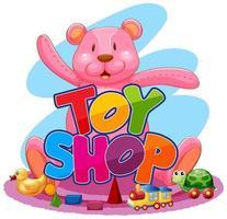 schattige speelgoedwinkel vector