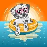 dox ontspannen in buis in het water