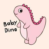 baby dino cartoon vector