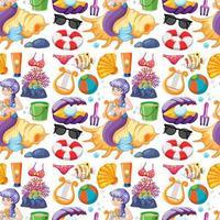 naadloze zeemeermin en zomer pictogrammen karakters