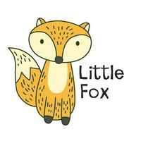 kleine vos cartoon vector