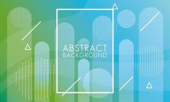 groen, blauw vloeistof met vierkante frame abstracte achtergrond