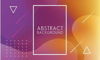 paarse, oranje vloeistoffen met vierkante frame abstracte achtergrond