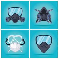 bioveiligheidsmaskers en mondkapbeschermingsaccessoires set