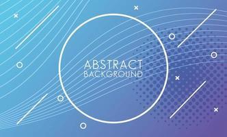 lichtblauwe vloeiende lijnen met cirkelvormige frame abstracte achtergrond vector