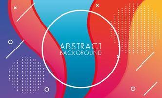 paars, roze, blauw, geel ronde frame abstracte achtergrond