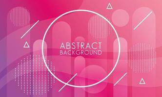 paars, roze vloeistof met cirkelvormige frame abstracte memphis achtergrond