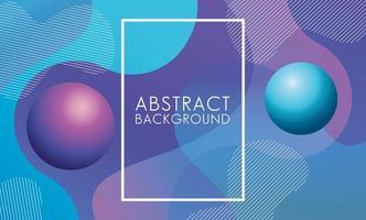 Aqua, paarse vloeistof met vierkante frame abstracte achtergrond