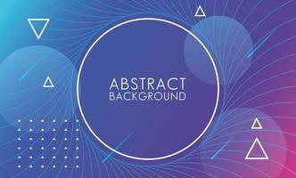 blauw, roze vloeistof met cirkelvormige frame abstracte achtergrond