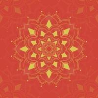 mandala patroon op rood vector