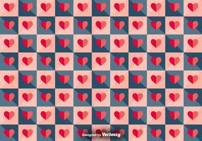 Vector tegel patroon met papieren harten