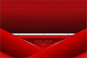 metallic rode en zilveren panelen met koolstofvezeltextuur