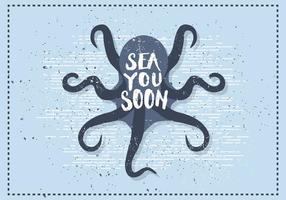 Gratis Vintage Octopus Vector Illustratie