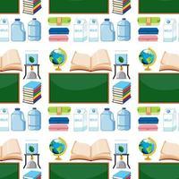 naadloze patroon met schoolbord en geleerde elementen