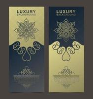 luxe lang visitekaartje met vintage ornamenten vector
