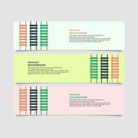 ladder stijl banner in drie kleuren