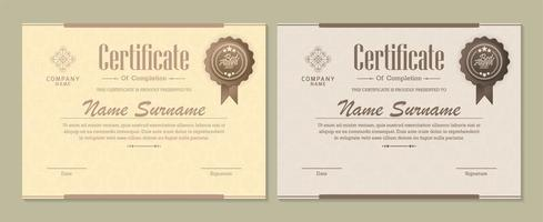 certificaat diploma set met badges