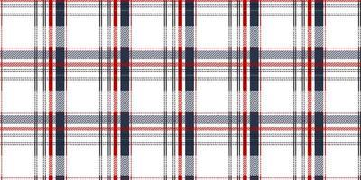 rood, wit en blauw tartan naadloos patroon vector