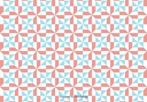 Vector Eenvoudig Patroon Met Rode En Blauwe Geometrische Cijfers