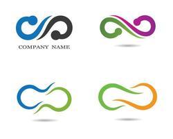 oneindigheidssymbool en logo set pictogrammen