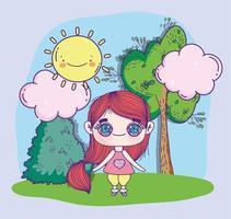 anime meisje in de natuur