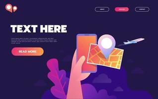 hand houdt smartphone met stadsplattegrond en gps-navigator