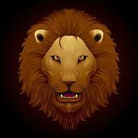 brullende leeuw schilderij vector