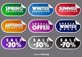 Vector Collectie Van Promotie Stickers