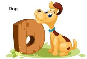 d voor hond vector