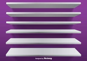 Witte vector bewerkbare planken