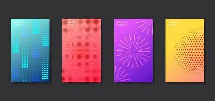 set van abstracte patroon halftone achtergrond vector