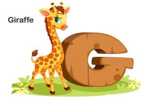g voor giraf vector