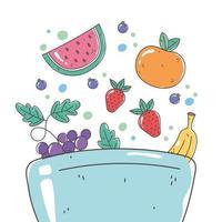 kom met vers fruit