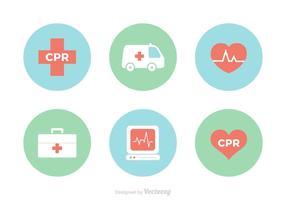 Gratis CPR-vector iconen vector