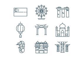 Gratis Singapore Icon Vector