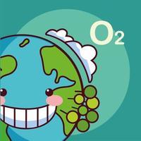 schattige planeet aarde glimlachen